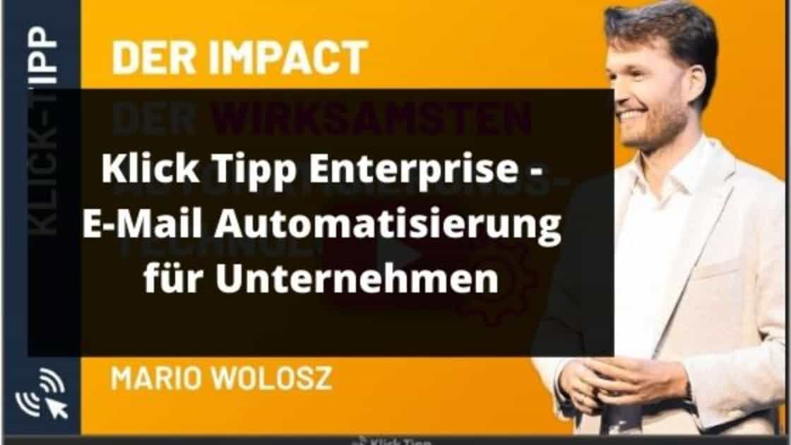 Klick Tipp Enterprise blog banner