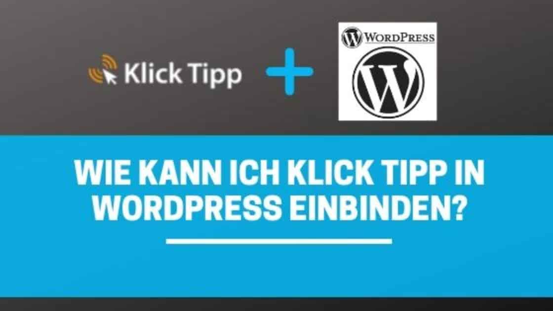 Klick Tipp In Wordpress Integrieren blog banner