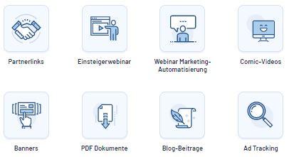 Klick Tipp Partnerprogramm Werbemittel