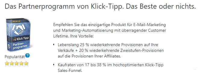 klick tipp affiliate program anmeldung