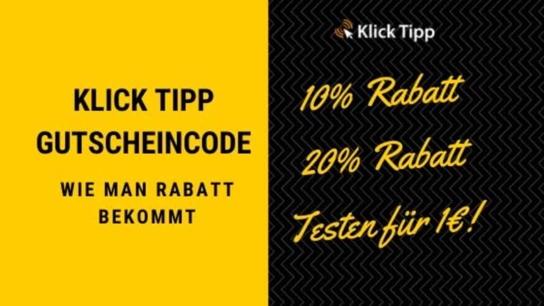klick tipp gutschiencode blog banner