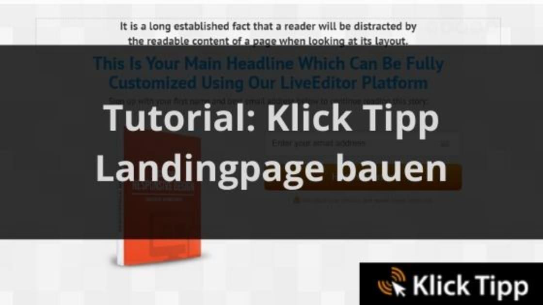 klick tipp landingpage blog banner